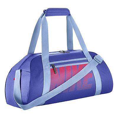 Nike Gym Club Bag Small Duffel Soccer Training Sports Fitness Travel Bag Blue