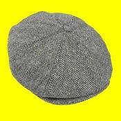 Boys Grey Flat Cap