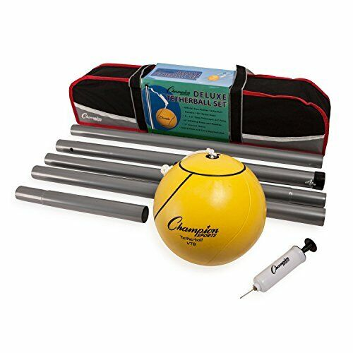 Portable Tetherball Set: Classic Backyard Lawn Beach and Pool Party Game