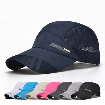 Men Outdoor Quick-drying Visor Caps Baseball Mesh Sport Cool Summer Running Hat - Cool Baseball Caps