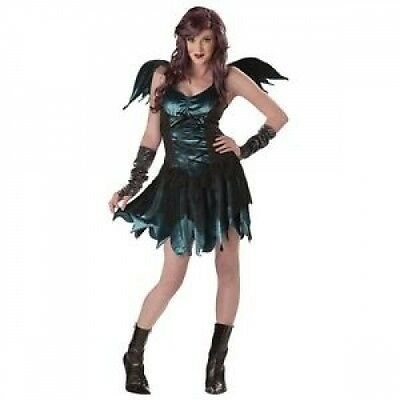 Adult Size Fairy Wings (Rebel Fairy Teal Totally Ghoul Women's  Costume Wings Adult Size Medium 8-14)