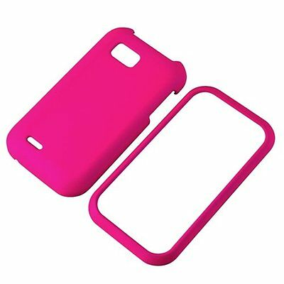 For LG myTouch Q C800 LGC800 Faceplate Snap-on Phone Hard Cover Case - Hot Pink Lg Pink Hard Faceplates
