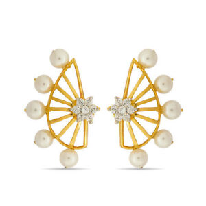 New-Latest-Indian-Bollywood-Designer-18K-AD-Pearl-Earrings-2-Pc-Gift-Set