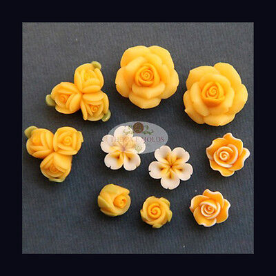 Handmade Silicone Mold /Cake Decoration Mould/flower set mold 4656