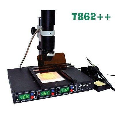 Ir Infrared Irda Welder Bga Heating Rework Desoldering Station T862 Machine