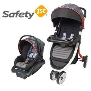 NEW SAFETY 1ST INFANT CAR SEAT 01296CNCK 201623056 EDGE TRAVEL SYSTEM NEW CHECKERS