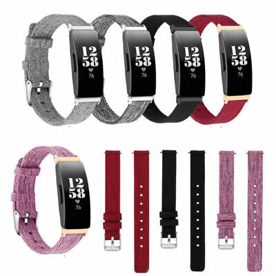 Replacement Canvas Nylon Wristband for Fitbit Inspire Fabric Watch Band Strap