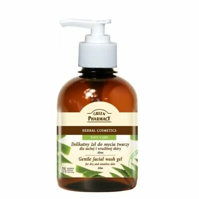 Green Pharmacy Gentle Face Wash Gel Aloe Dry and Sensitive Skin Paraben FREE