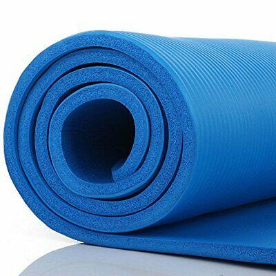 Blue Thick Non-Slip Large Yoga Mat Pad Exercise Gym Meditati