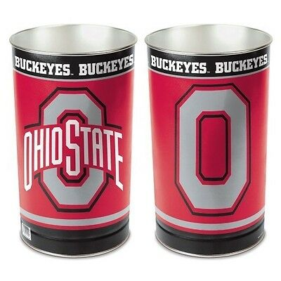 - OHIO STATE BUCKEYES ~ (1) Official NCAA 15 Inch Wastebasket Trash Can ~ New!