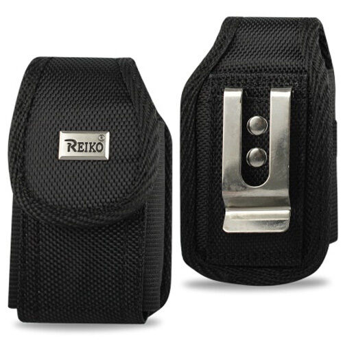 Nylon Black case with safety bungee cord fits LG Exalt