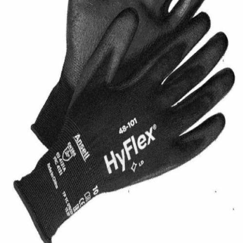 12 Pair ANSELL HYFLEX 48-101 Polyurethane Gloves SZ 10 Industrial - All Purpose