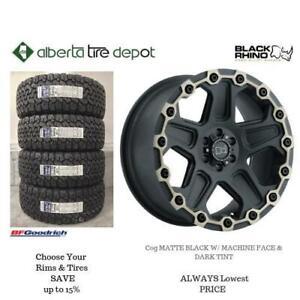 OPEN 7 DAYS LOWEST PRICE Save Up To 10% Black Rhino Cog Matte Black With Machine Face Dark Tint Alberta Tire Depot