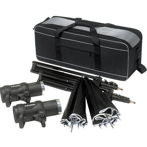 Profoto D1 Studio Kit Complete with two heads, reflectors, stands, and Case