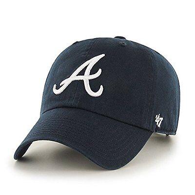 Atlanta Braves 47 Brand Clean Up Adjustable Field Classic Blue Hat Cap MLB