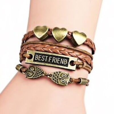 Swallow Letter Pattern Multi-Layered Friendship Bracelet - Black](Friendship Bracelet Pattern)