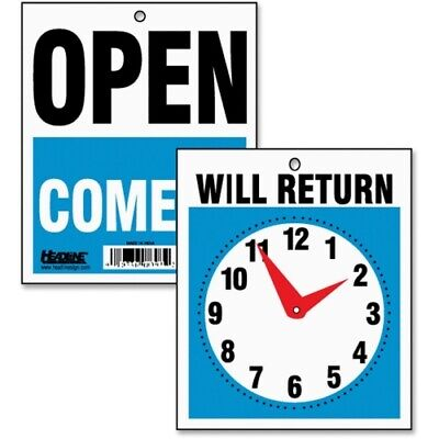 Headline Sign Double-sided Openwill Return Sign Wclock Hands Plastic 7-12 X