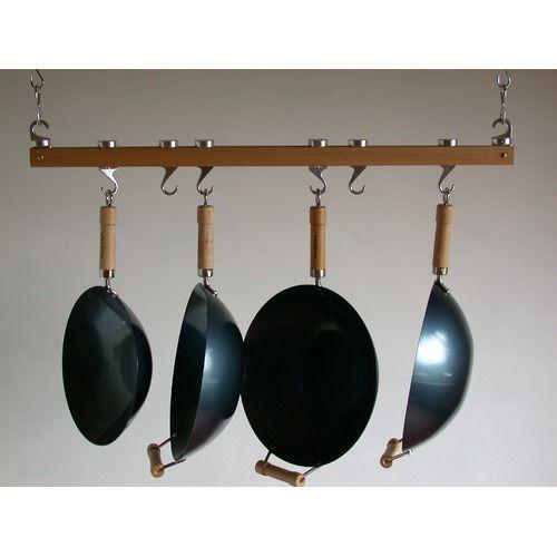 Pot Rack: Wood Pot Rack