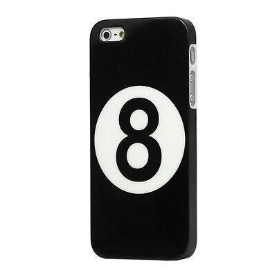 BILIARDO POOL PALLA 8 CUSTODIA PROTEZIONE COVER BACK CASE RIGIDA per iPhone 5 5S