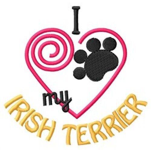 """I """"Heart"""" My Irish Terrier Sweatshirt 1387-2 Sizes S - XXL"""