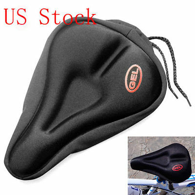 Padded Bicycle Seat Covers (New Bike Bicycle Cycle Extra Comfort Gel Pad Cushion Cover for Saddle Seat Comfy )