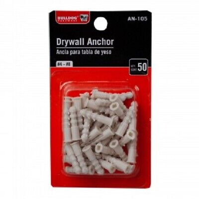 Bulldog Hardware 50 Count Plastic Drywall Anchors