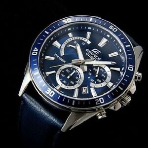 CASIO-EDIFICE-EFR-552L-2A-NEOBRITE-HANDS-BLUE-DIAL-AND-GENUINE-LEATHER-BAND
