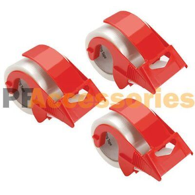 3x 2 Packing Tape Hand Dispenser For House Moving Shipping Box Packaging Tape