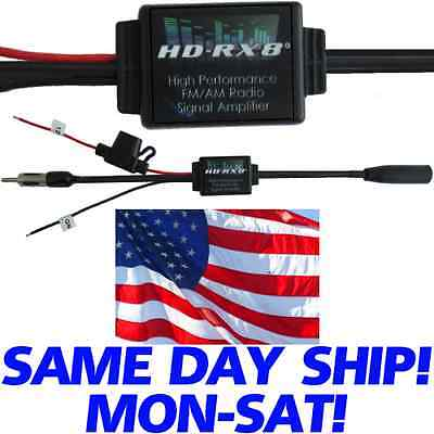 HD-RX8 RADIO FM AM SIGNAL AMP AMPLIFIER BOOSTER FOR CAR STEREO RECEIVER  antenna