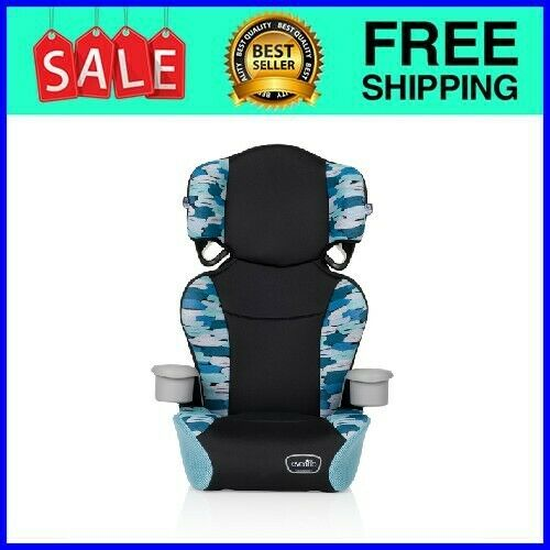 Big Kid Sport No Back Belt-Positioning Car Seat (Jonas Blue)