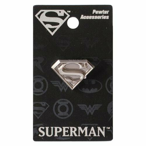 Superman New * S Logo * Pewter Lapel Pin Accessory Charm Pin Back Licensed