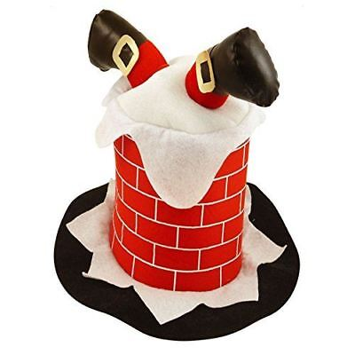 Novelty Funny Christmas Hat Stuck In Chimney Fancy Dress Xmas Party Costume