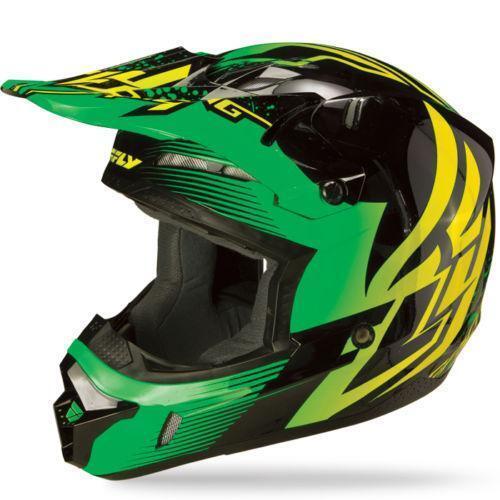 Green Black Motorcycle Helmet | eBay