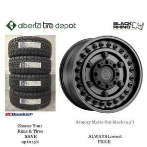 OPEN 7 DAYS LOWEST PRICE Save Up To 10% Black Rhino Armory MATTE GUNBLACK 9.5 Rims. Alberta Tire Depot.