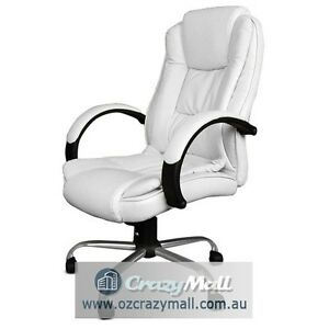 Premium Office Executive Chair Padded White/Beige/Black Melbourne CBD Melbourne City Preview
