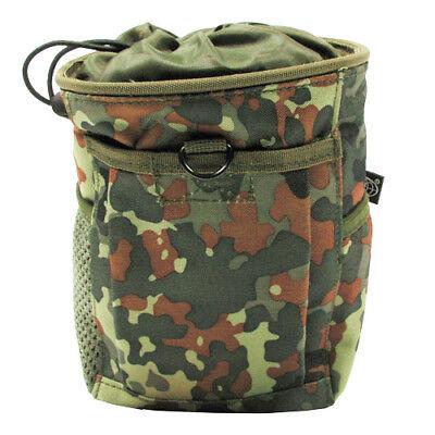 Tactical Rapid Dump Cartridge Pouch MOLLE Modular System Airsoft Flecktarn Camo Modular System Pouch