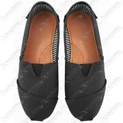 Ladies Black Canvas Pumps