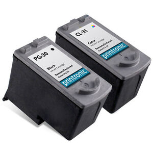 2pk-Printronic-For-Canon-PG30-CL31-PG-30-CL-31-Black-Color-Ink-Cartridge