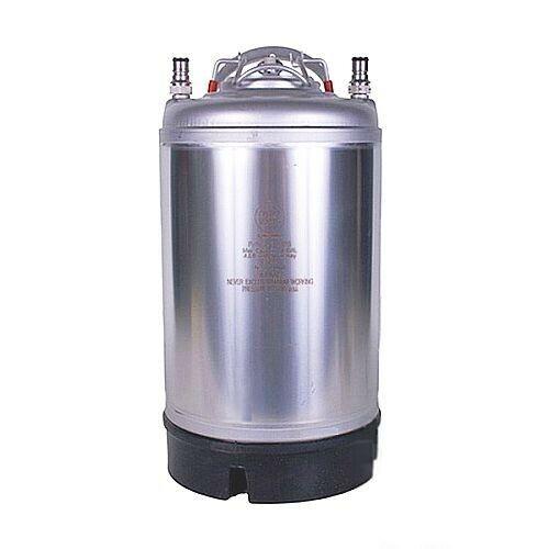 3 Gallon Ball Lock Keg With Single Handle For Homebrew Beer Wine Coffee Kombucha