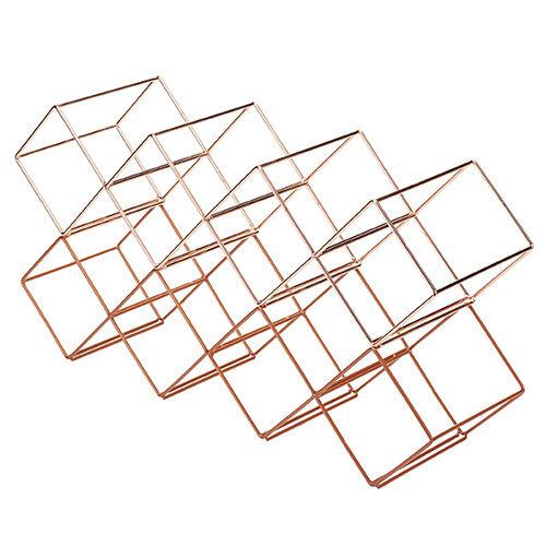 Bar Craft Copper Finish Wire Stackable Layering Wine Bottle Holder Storage Rack