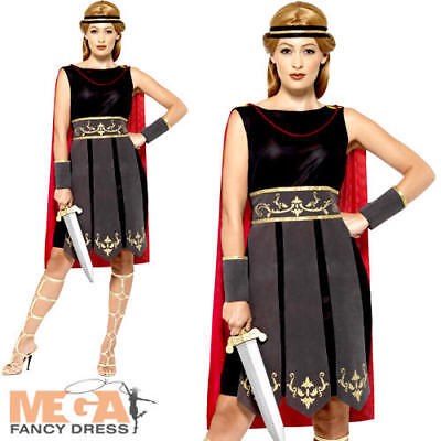 Roman Warrior Ladies Fancy Dress Ancient Greek Gladiator Womens Adults - Ancient Greek Warrior Costume