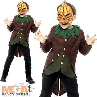 Halloween Kid Film (Goosebumps Jack-O'-Lantern Boys Fancy Dress Halloween Horror Film Kids Costume )