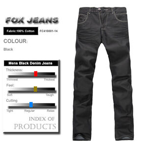 NEW-MENS-FOXJEANS-DENIM-MENS-BLACK-JEANS-SIZE-32