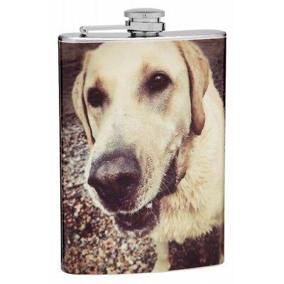 (8 oz Design Your Own Pet Photo Hip Flask)