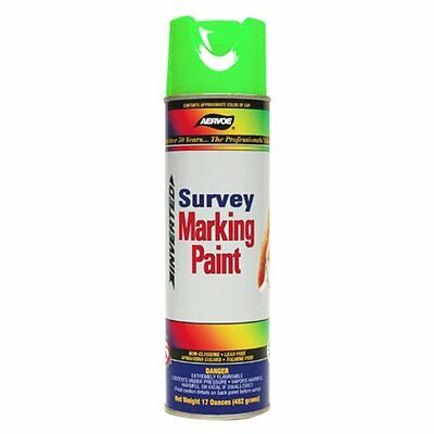 (Aervoe Survey Marking Paint Green Fluorescent Case of 12 Cans 17 Oz. (224))
