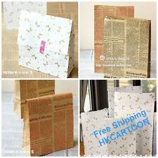 Cotton Linen Drawstring Multi-purpose Gift Bag English Newspaper 8123HS