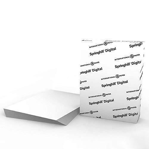 """Springhill White 8.5"""" x 11"""" Cardstock Paper, 90lb, 163gsm, 250 Sheets (1"""