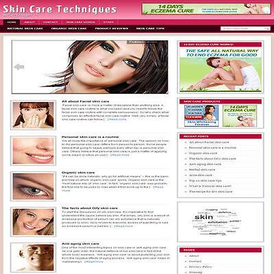 Established Skin Care Affiliate Website Turnkey Business Free Hosting