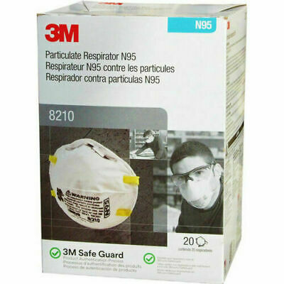 3 M Pack of 20 New Protective Mask N Grade 95 Never Opened 2025 Fast Shipping!
