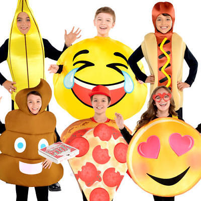 Food Dress Up Costumes (Novelty Humour Kids Costume Poop Emoji Food Funny Boys Girls Childrens)